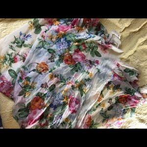 Floral forever 21 scarf.